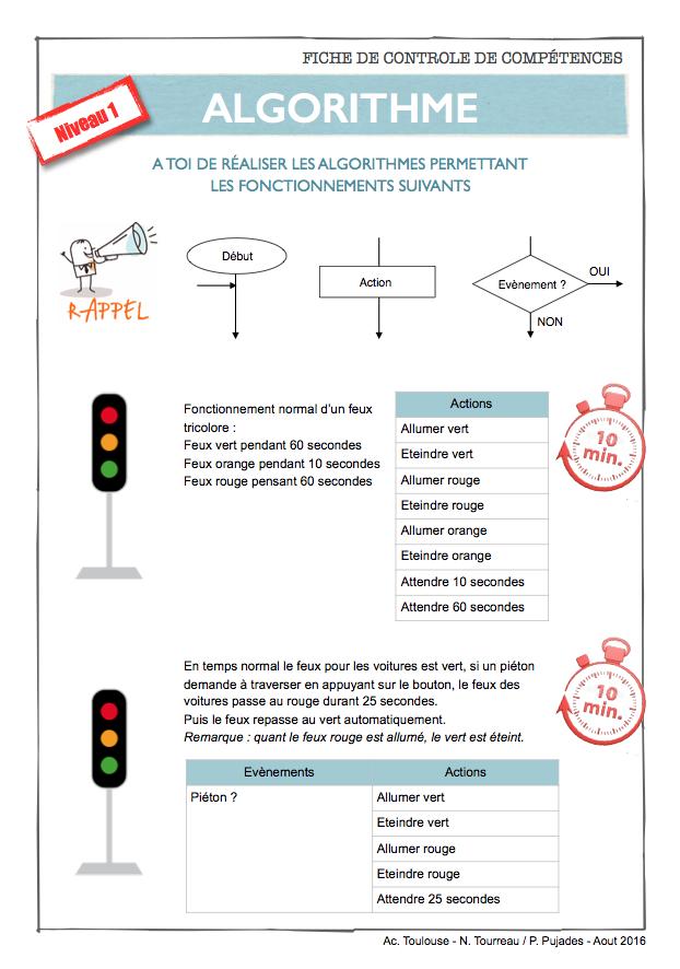31 r aliser l 39 algorithme du fonctionnement du portail for Porte logique pdf